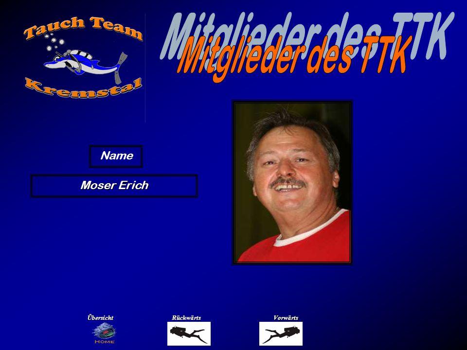 Mitglieder des TTK Name Oberndorfer Klaus Übersicht Rückwärts Vorwärts