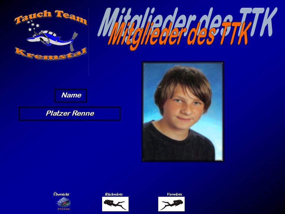 Mitglieder des TTK Name Prentner Bernhard Übersicht Rückwärts Vorwärts