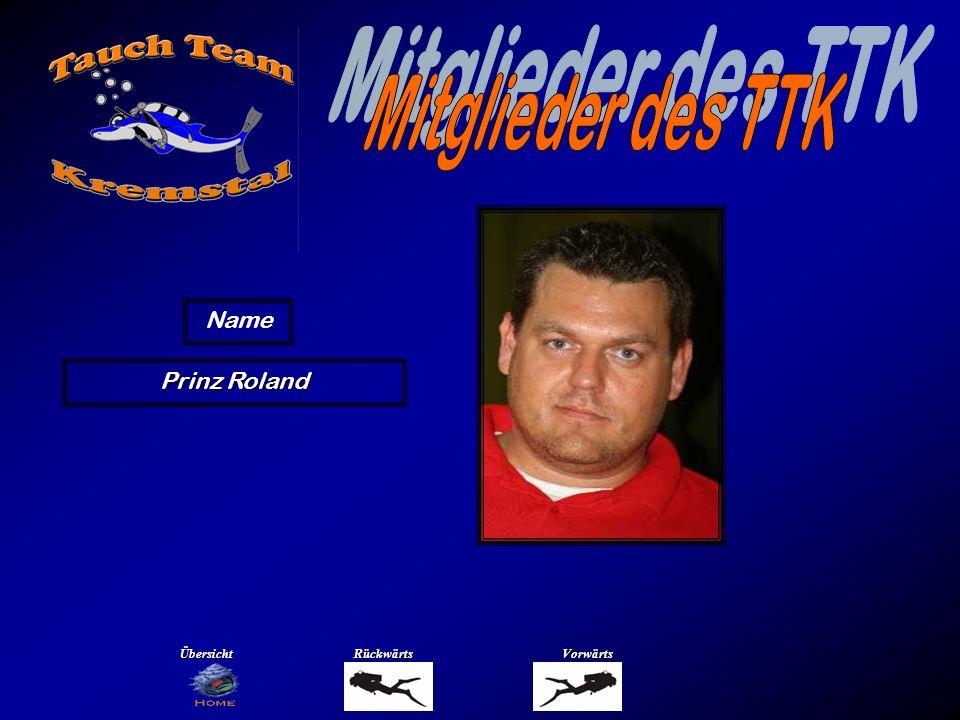 Mitglieder des TTK Name Prühlinger Renate Übersicht Rückwärts Vorwärts