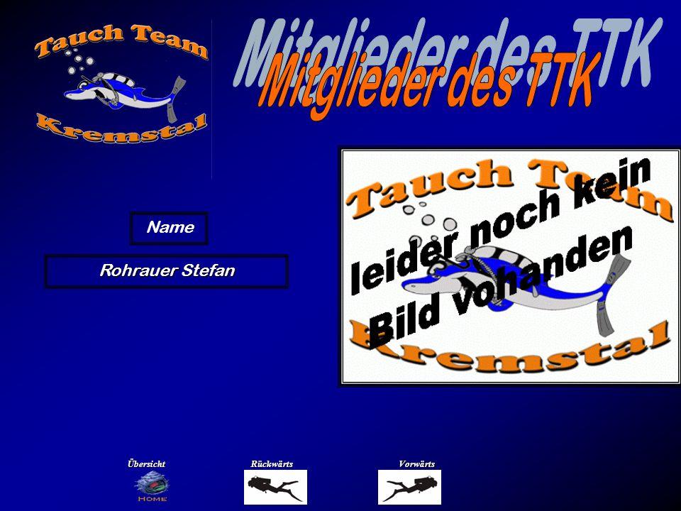 Mitglieder des TTK Name Sandner Gerhart Übersicht Rückwärts Vorwärts