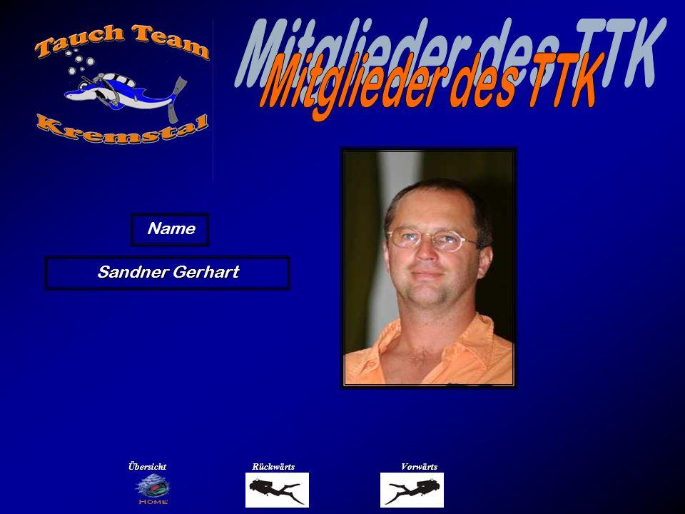 Mitglieder des TTK Name Schmidsberger Franky Übersicht Rückwärts