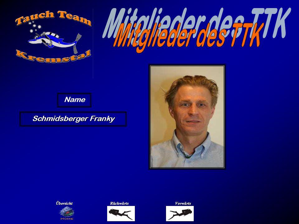 Mitglieder des TTK Name Schmidsberger Renate Übersicht Rückwärts