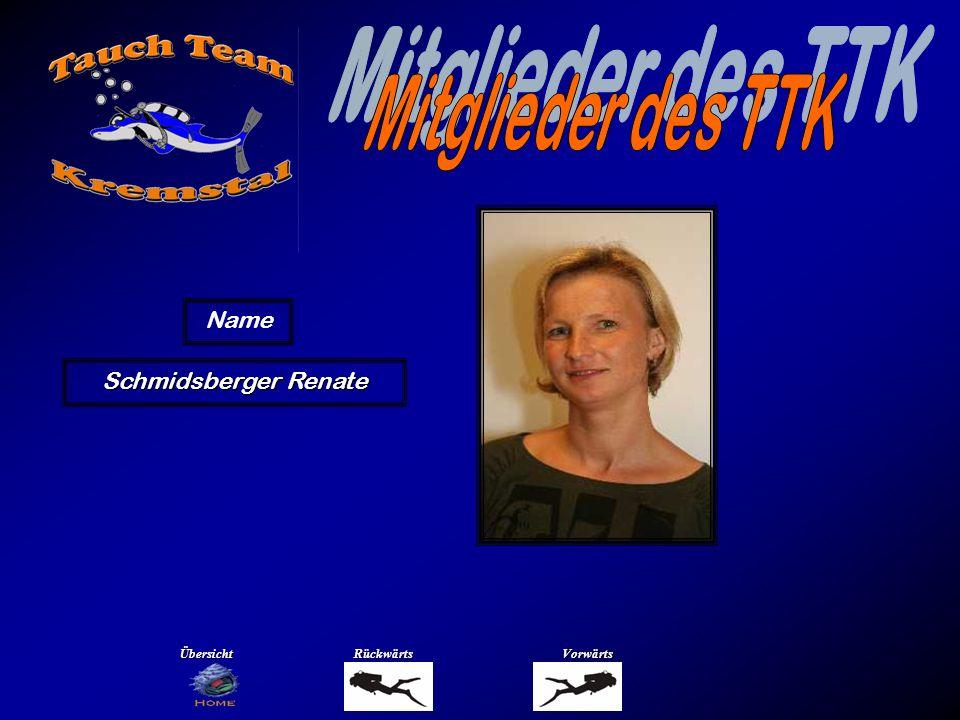 Mitglieder des TTK Name Schober Christian Übersicht Rückwärts Vorwärts