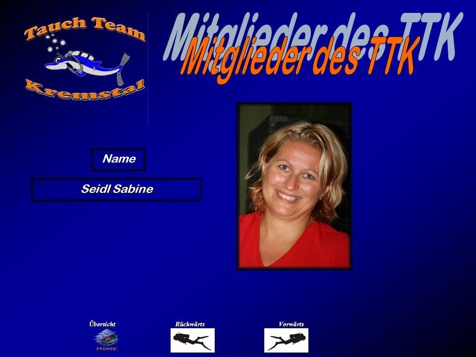 Mitglieder des TTK Name Staufer Nicole Übersicht Rückwärts Vorwärts