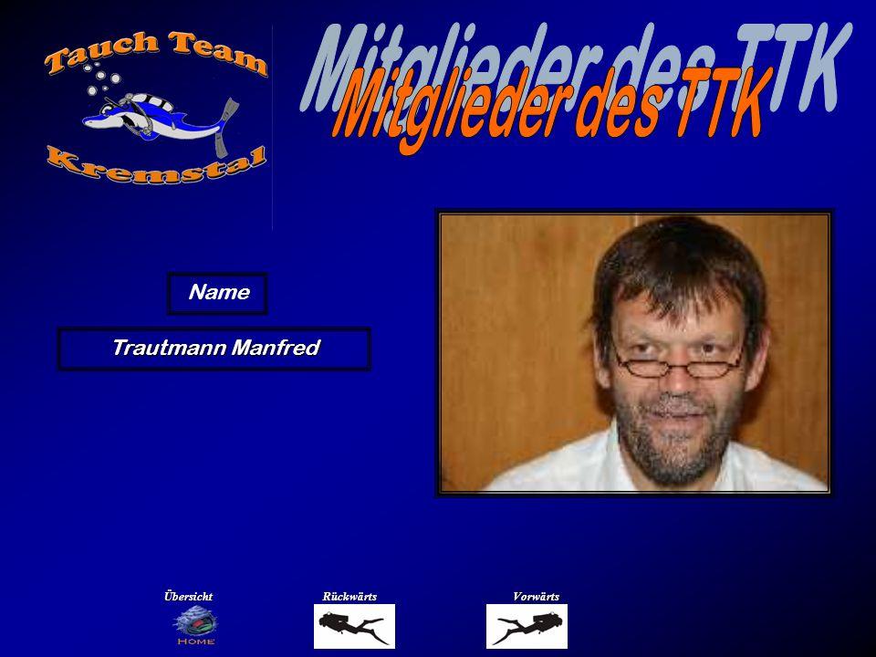 Mitglieder des TTK Name Wakolbinger Mario Übersicht Rückwärts Vorwärts