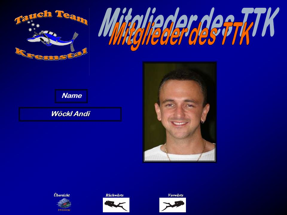 Mitglieder des TTK Name Zehetner Dominik Übersicht Rückwärts Vorwärts