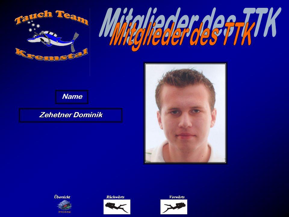 Mitglieder des TTK Name Ziegler Anna Übersicht Rückwärts Vorwärts