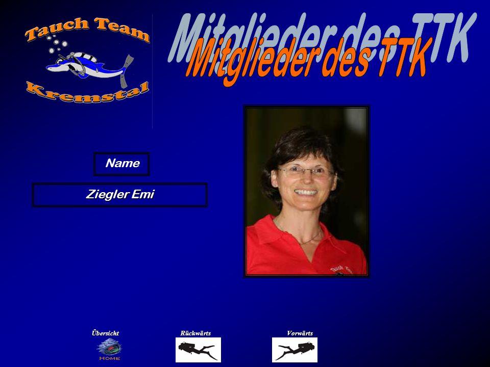 Mitglieder des TTK Name Ziegler Wolfgang Übersicht Rückwärts Vorwärts