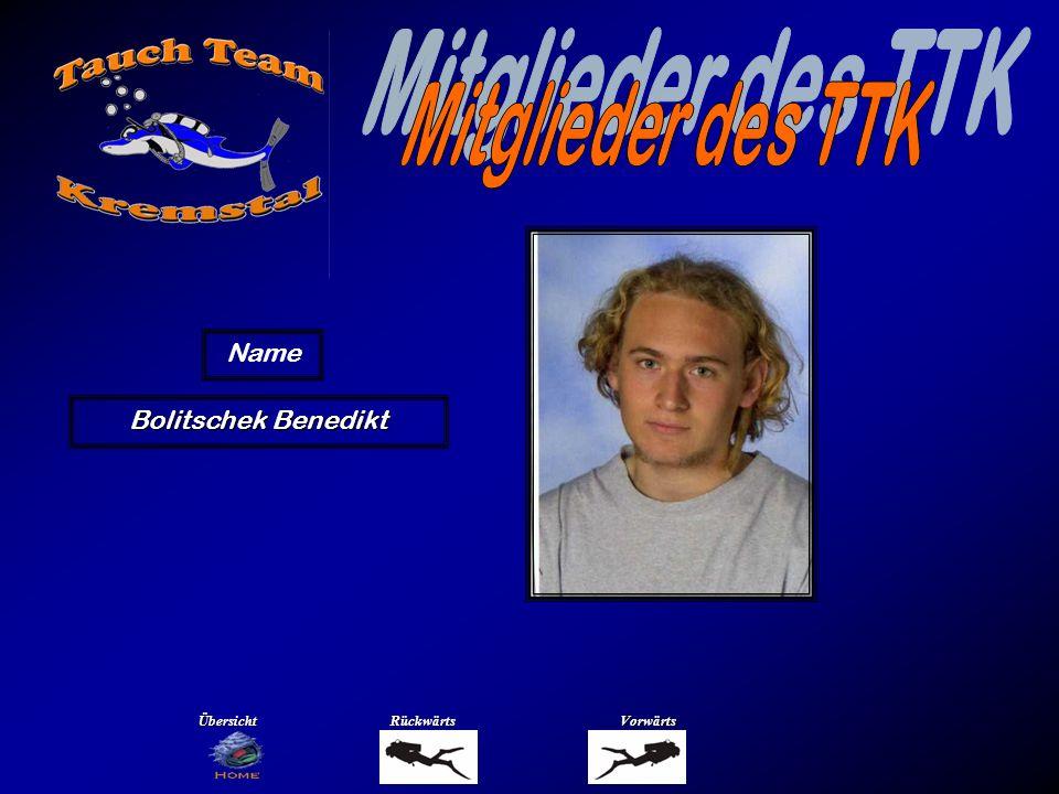 Mitglieder des TTK Name Bolitschek Johanna Übersicht Rückwärts