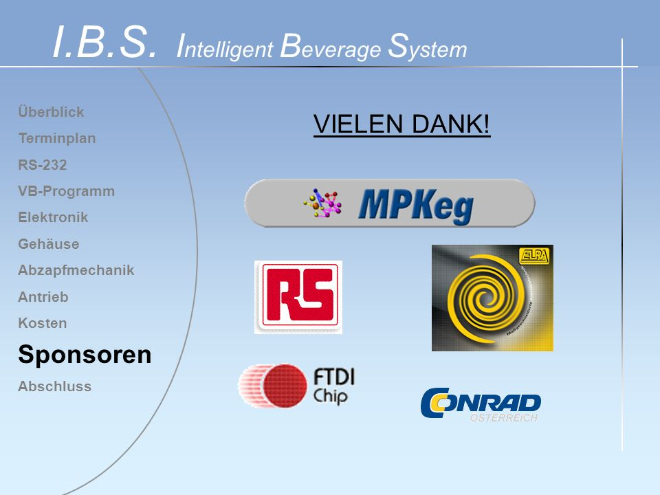 I.B.S. Intelligent Beverage System