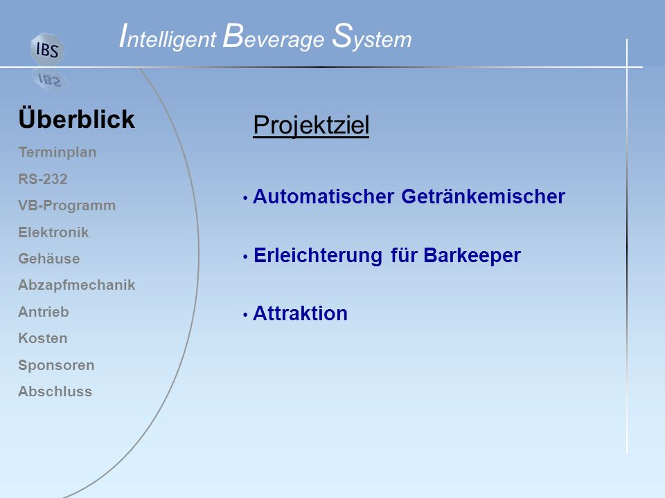 Intelligent Beverage System