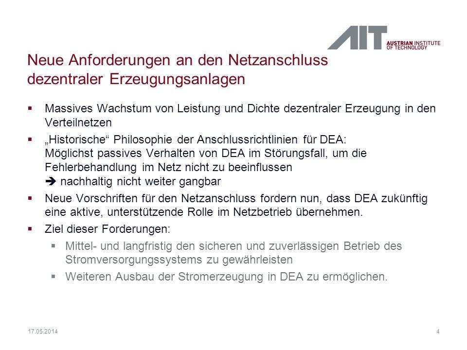 Neue Anforderungen an den Netzanschluss dezentraler Erzeugungsanlagen