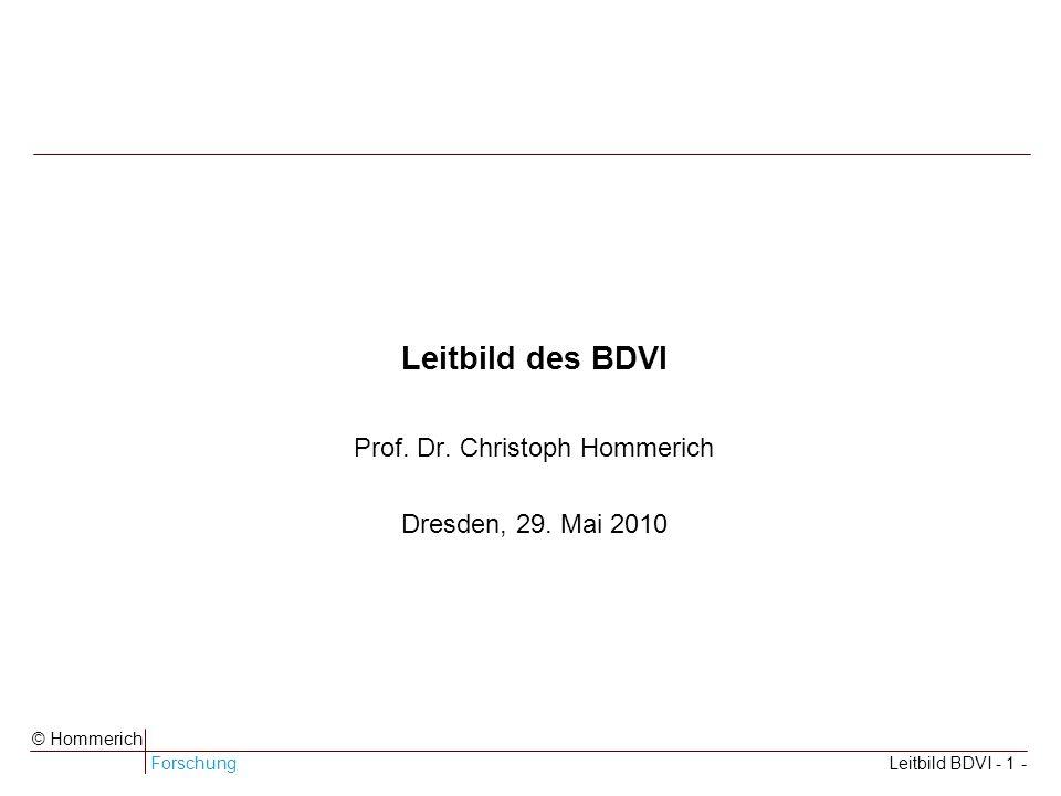 Leitbild des BDVI Prof. Dr. Christoph Hommerich Dresden, 29. Mai 2010