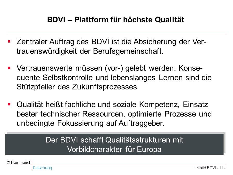 BDVI – Plattform für höchste Qualität