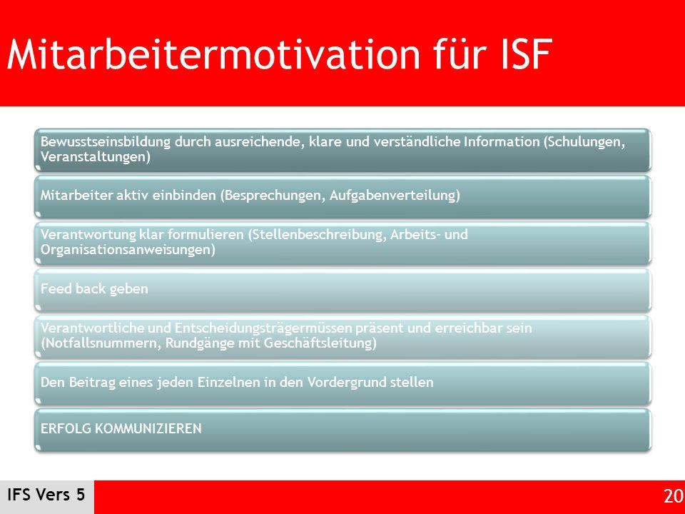 Mitarbeitermotivation für ISF