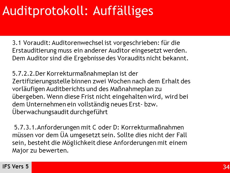 Auditprotokoll: Auffälliges