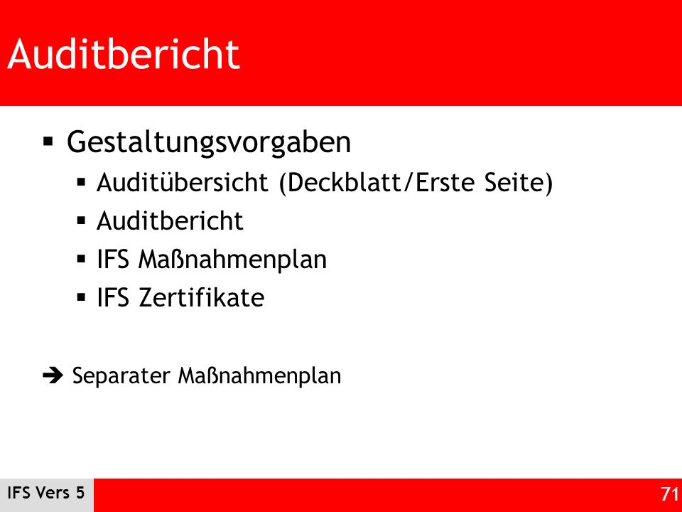 Auditbericht Gestaltungsvorgaben