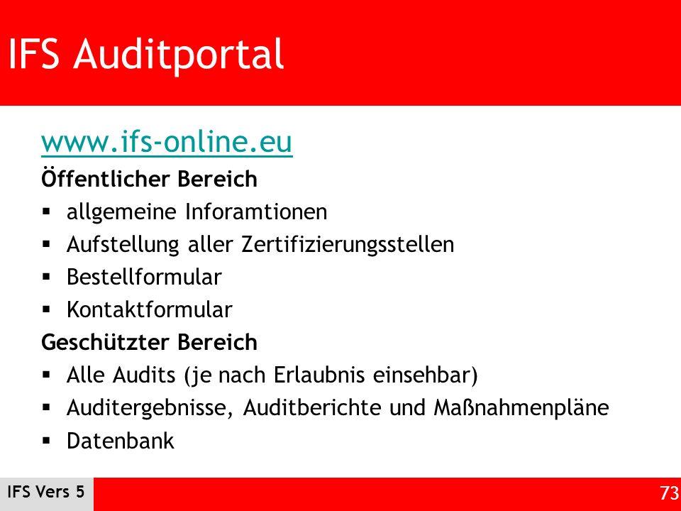 IFS Auditportal www.ifs-online.eu Öffentlicher Bereich