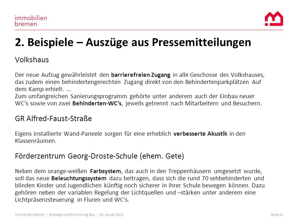 2. Beispiele – Auszüge aus Pressemitteilungen