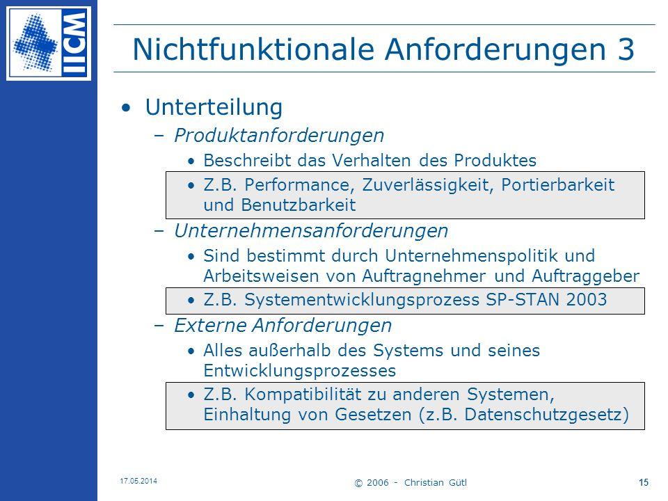 Nichtfunktionale Anforderungen 3