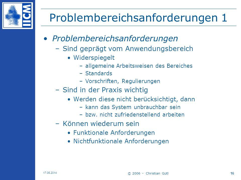 Problembereichsanforderungen 1