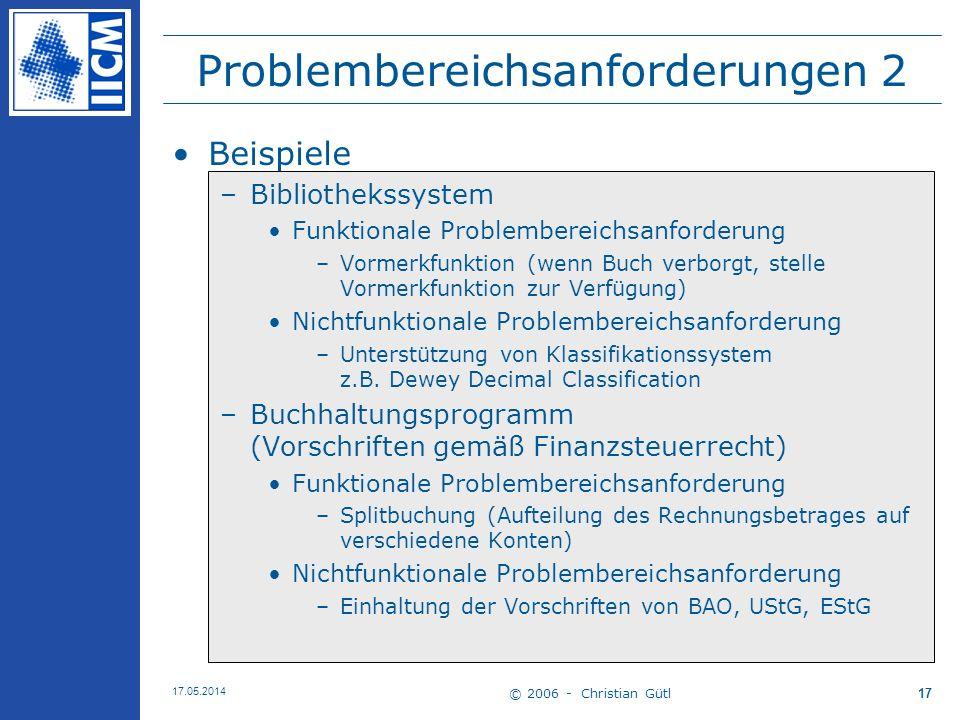 Problembereichsanforderungen 2