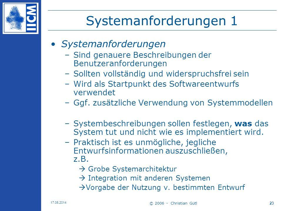 Systemanforderungen 1 Systemanforderungen