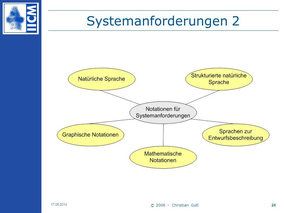 Systemanforderungen 2 30.03.2017 © 2006 - Christian Gütl