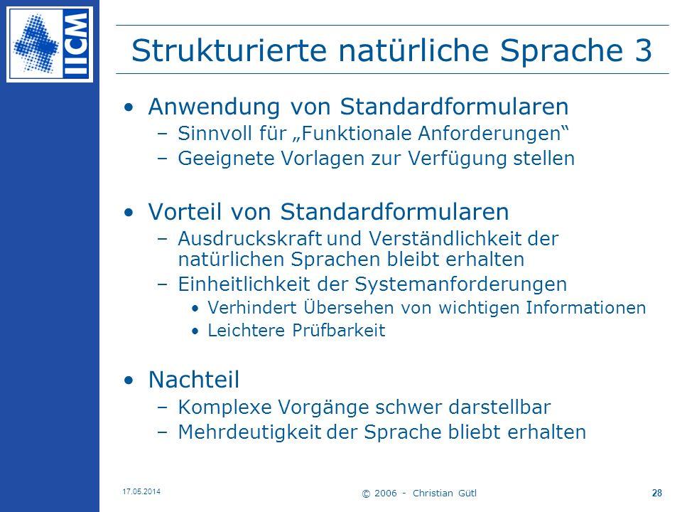 Strukturierte natürliche Sprache 3