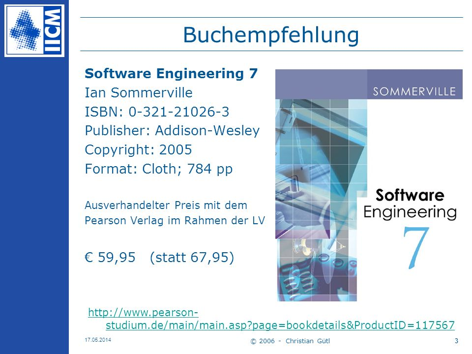 Buchempfehlung Software Engineering 7 Ian Sommerville