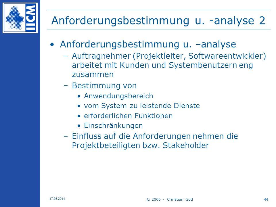 Anforderungsbestimmung u. -analyse 2