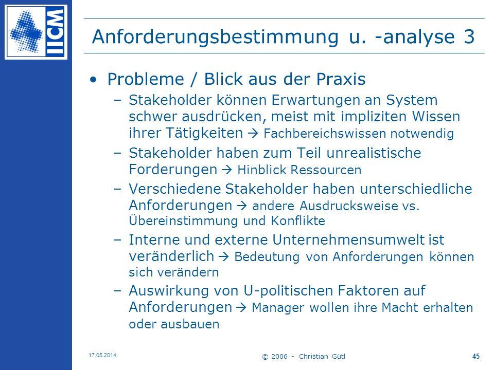 Anforderungsbestimmung u. -analyse 3