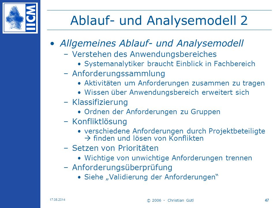Ablauf- und Analysemodell 2