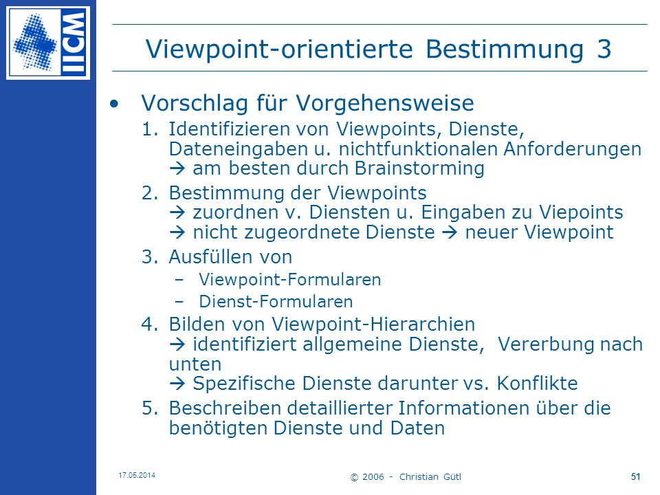 Viewpoint-orientierte Bestimmung 3