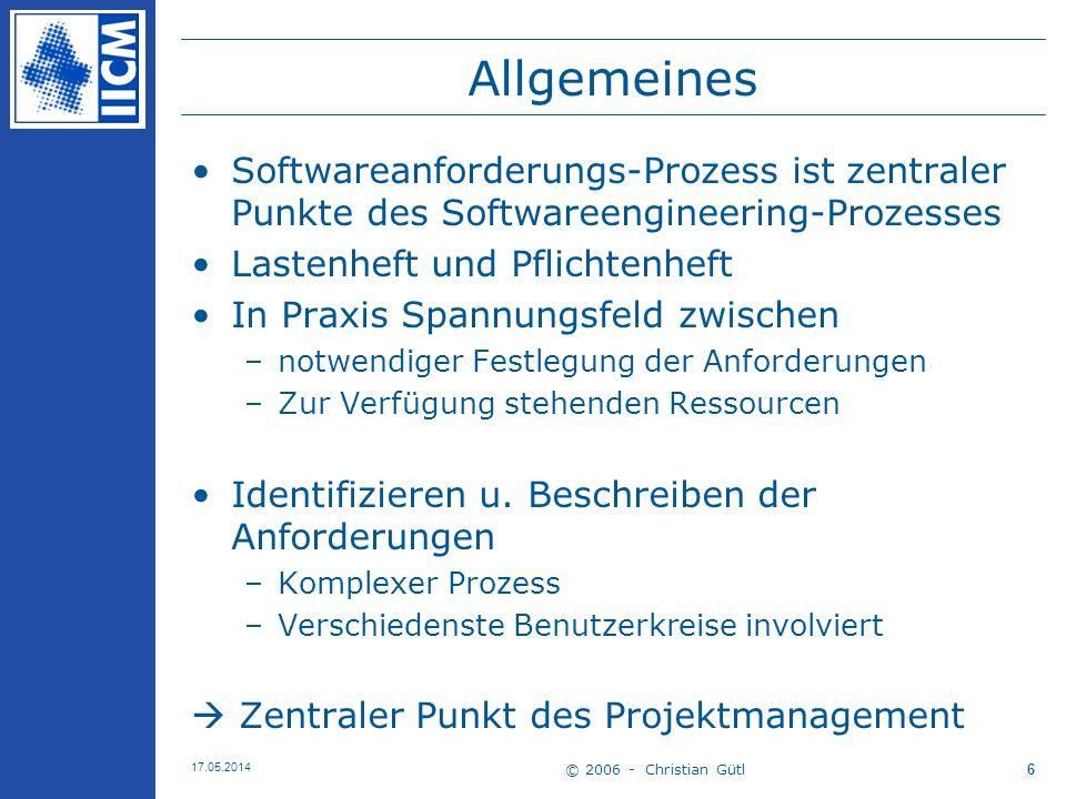 Allgemeines Softwareanforderungs-Prozess ist zentraler Punkte des Softwareengineering-Prozesses. Lastenheft und Pflichtenheft.