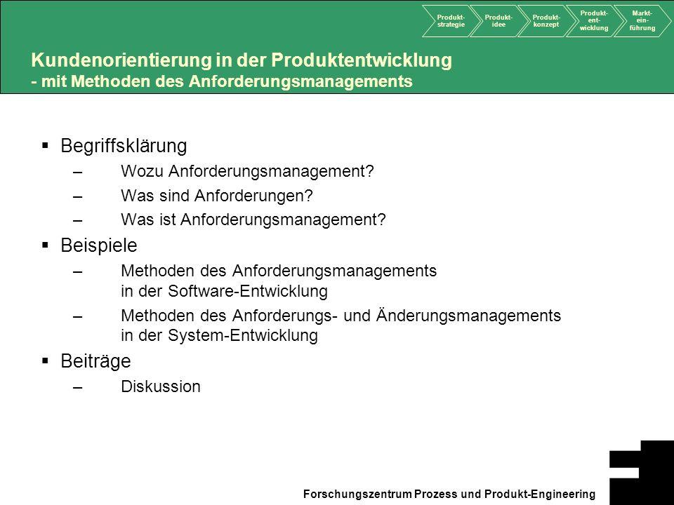 Kundenorientierung in der Produktentwicklung - mit Methoden des Anforderungsmanagements