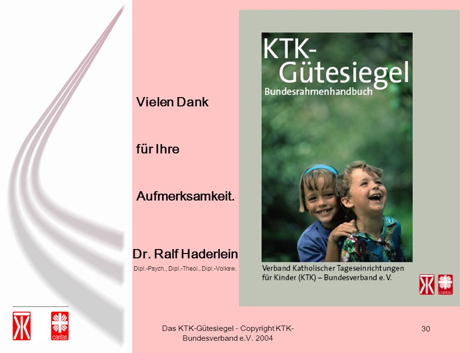 Vielen Dank für Ihre Aufmerksamkeit. Dr. Ralf Haderlein