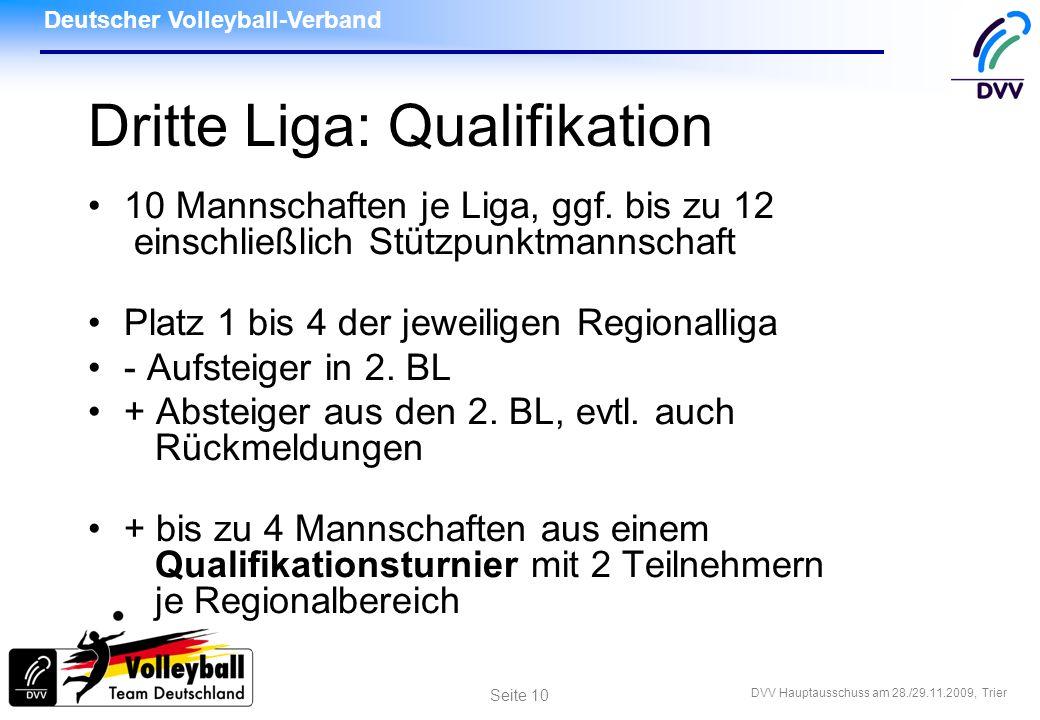 Dritte Liga: Qualifikation