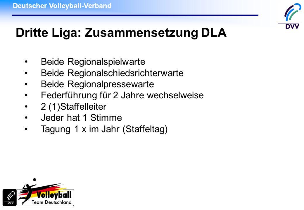 Dritte Liga: Zusammensetzung DLA