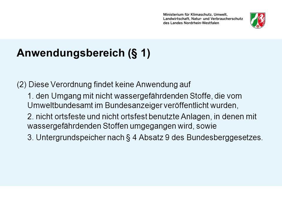 Anwendungsbereich (§ 1)