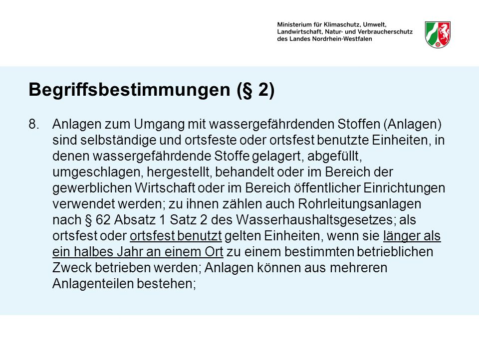 Begriffsbestimmungen (§ 2)