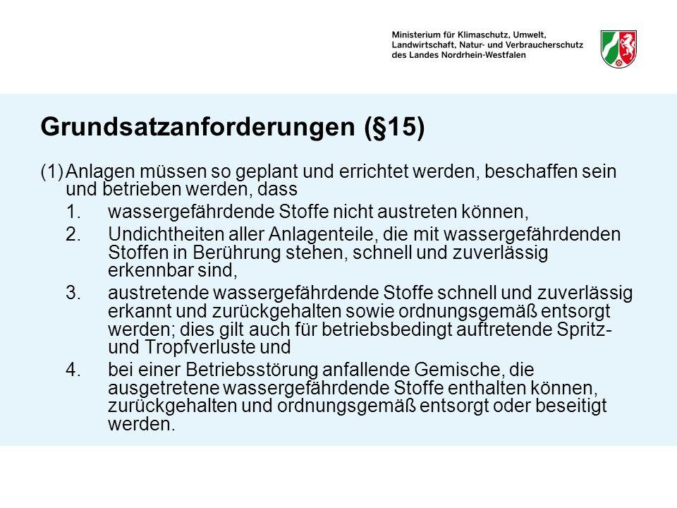 Grundsatzanforderungen (§15)