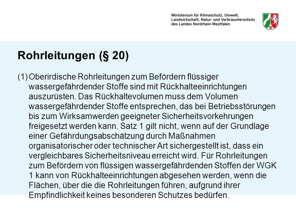 Rohrleitungen (§ 20)