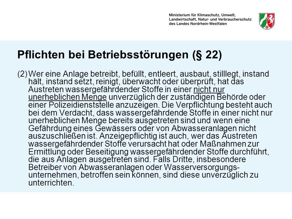 Pflichten bei Betriebsstörungen (§ 22)