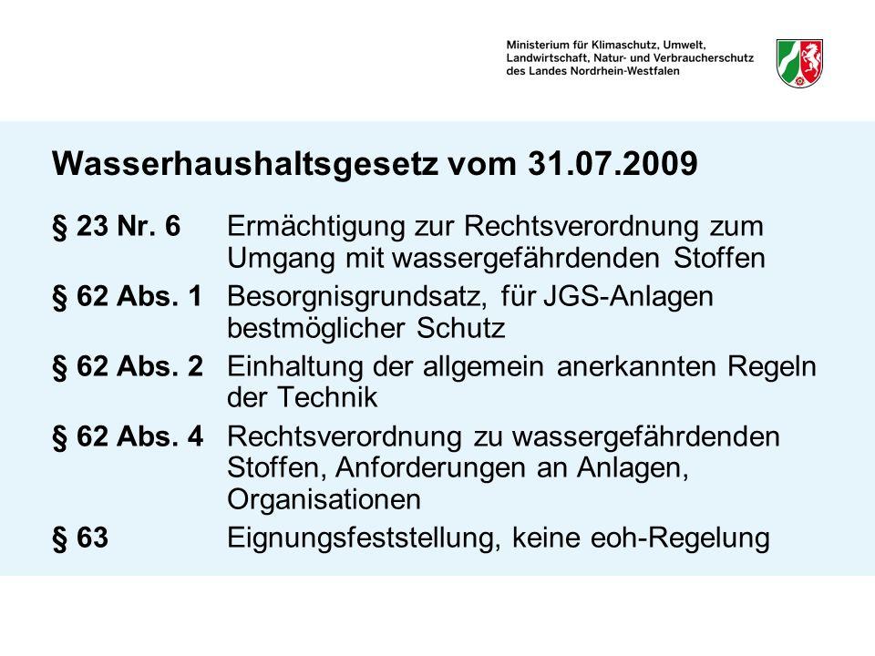 Wasserhaushaltsgesetz vom 31.07.2009