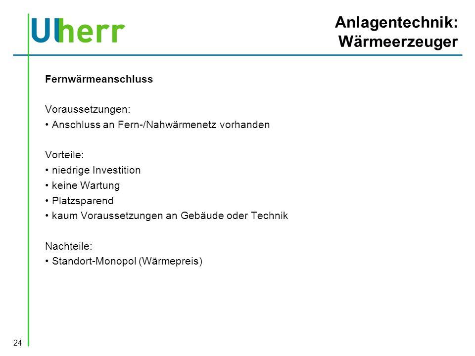 Anlagentechnik: Wärmeerzeuger