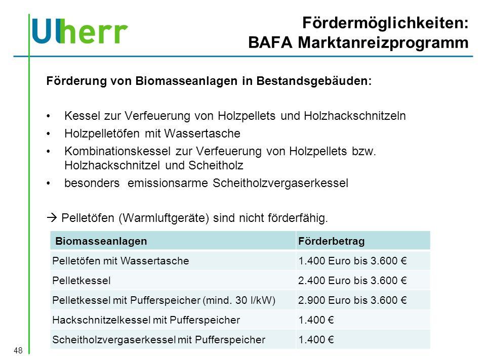 Fördermöglichkeiten: BAFA Marktanreizprogramm