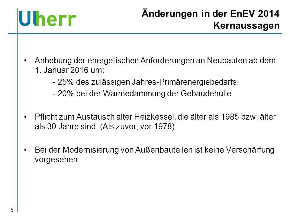 Änderungen in der EnEV 2014 Kernaussagen