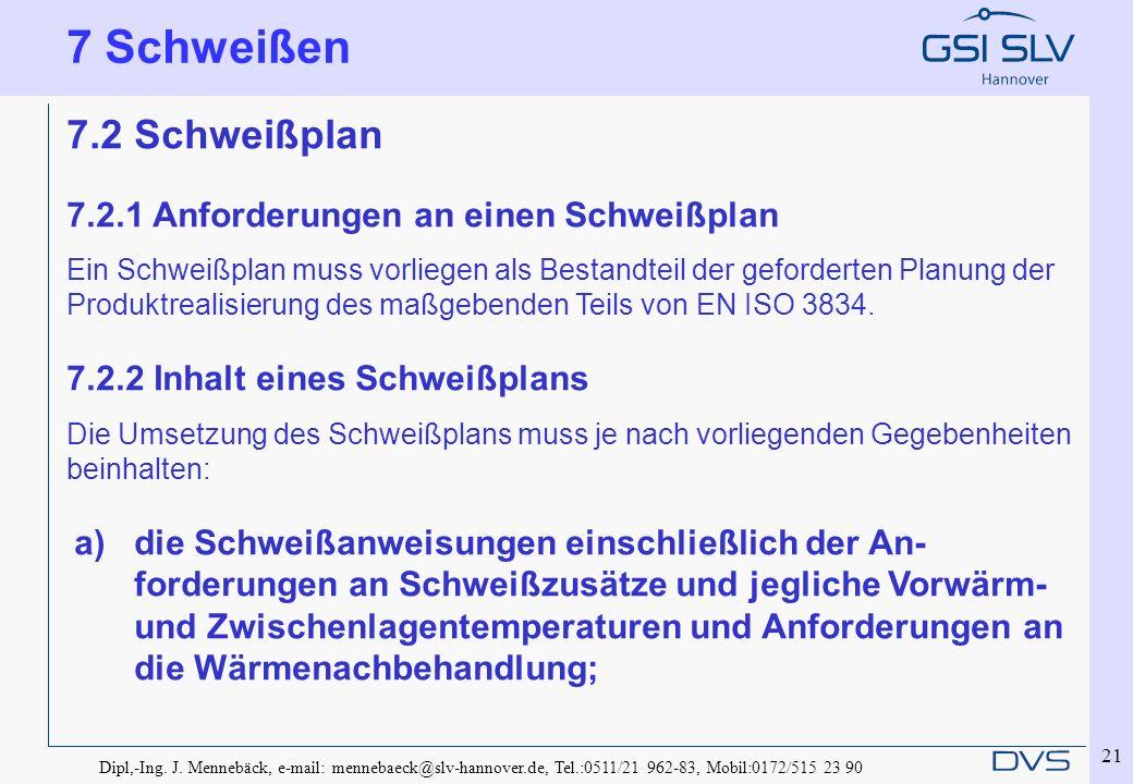7 Schweißen 7.2 Schweißplan 7.2.1 Anforderungen an einen Schweißplan