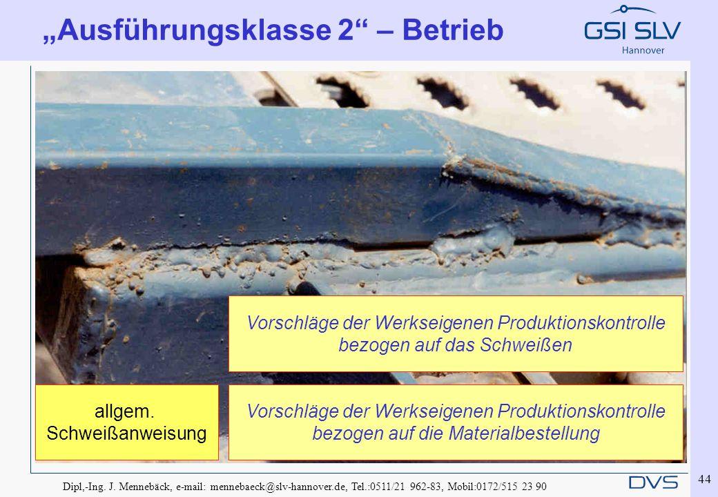 """""""Ausführungsklasse 2 – Betrieb"""